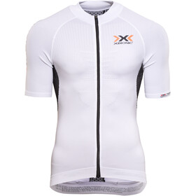 X-Bionic The Trick Biking Jersey SS Full-Zip Men, white/black